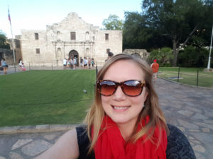 Photo of me at the Alamo