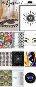 Collage of eye items